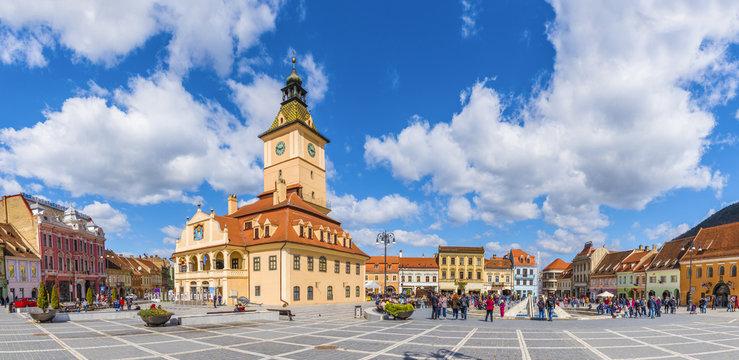Council Square Brasov, Transylvania landmark, Romania