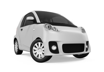 Electric Car Vehicle Isolated
