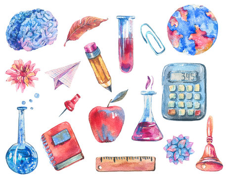 Watercolor back to school kit