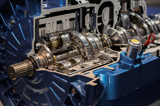 Automatic transmission in section