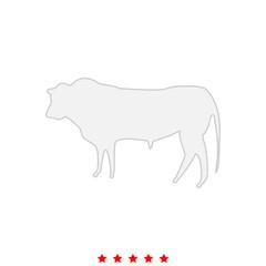 Bull it is icon .