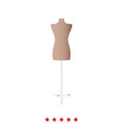 Fashion stand, female torso mannequin it is icon .