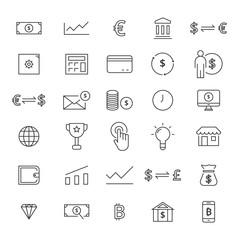 30 Line Finance Icons