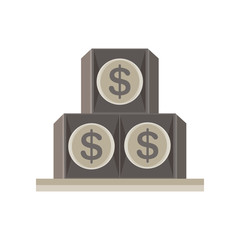 eye pyramid dollar seeing all illuminati vector symbol icon isolated