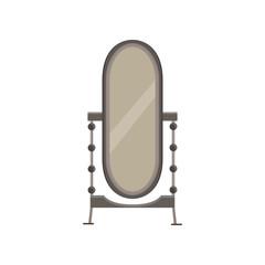 Mirror floor interior room background design vector illustration isolated