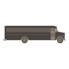 Bus school vector illustration transport icon isolated flat child car design education fun cute black