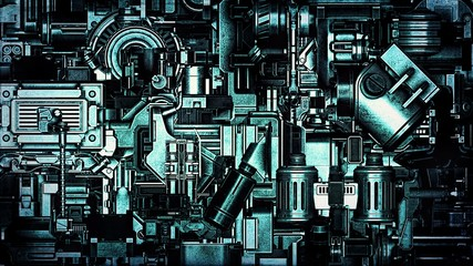 Wide Hi-Tech Machinery Background