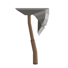 Axe vector illustration isolated icon blade wooden tool danger design element flat hand retro vintage