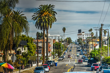 Street in downtown Los Angeles