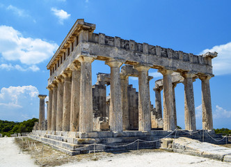 Ancient temple on the island of Aegina in Greece.