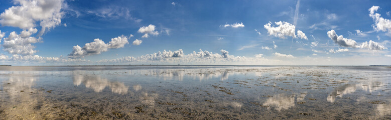 Türaufkleber Nordsee Wolkenstimmung über der Nordsee