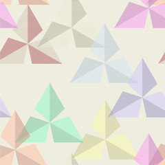 vector seamless texture of colored geometric spots
