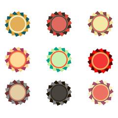 Label vector vintage design banner tag sticker set retro badge illustration sale ribbon element