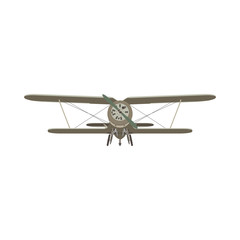Biplane vintage airplane vector plane old retro propeller illustration aircraft isolated