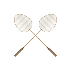 Badminton rio icon vector design player racket sport illustration