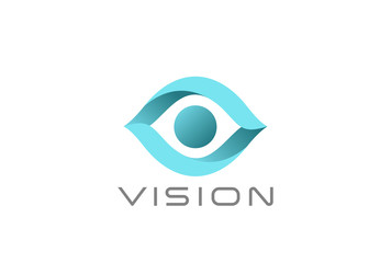 Eye Logo abstract design vector. Vision SPY Search Logotype icon
