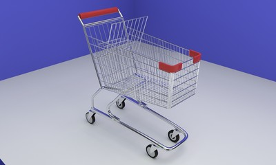 Shopping Car of background, 3d
