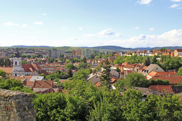 the cityscape of hungarian city Eger