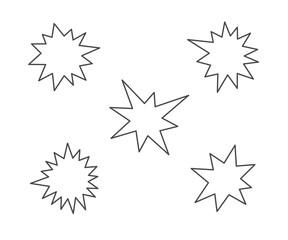 splash stars icon set