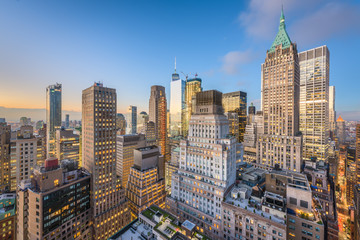 New York City Financial DIstrict Cityscape
