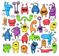 Doodle monster collection