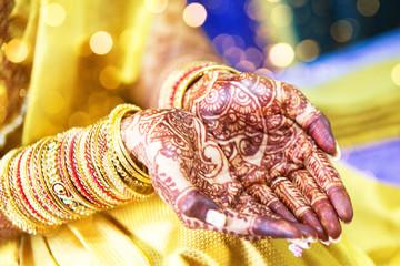 Henna tattoo, indian bride