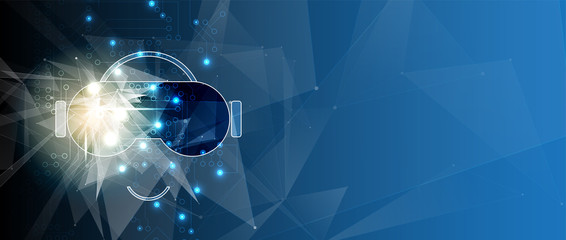 virtual reality in life future technology background