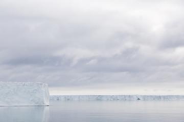 Iceberg floats in the polar sea of Svalbard, Spitsbergen, Norway