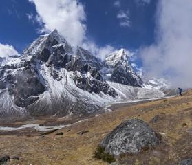 Photographer taking pictures on Everest base camp trek