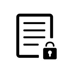 document and lock (security) icon