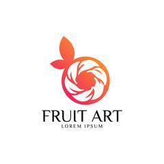 Fresh Fruit Logo Vector Art