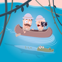 funny river safari clipart