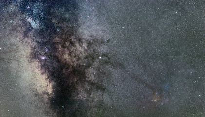 Milky way Antares Region wide angle view