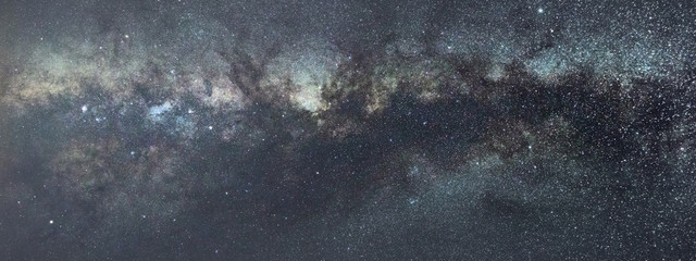 Milky way on Night sky.