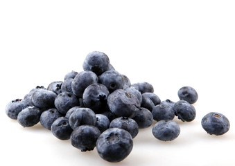 Close-up studio shot of organic blueberries