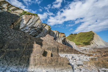 Layers of flysch in low tide, Zumaia