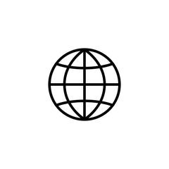 network globe internet symbol line black