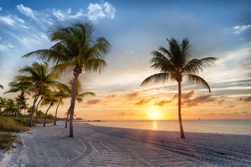 Fototapete - Sunrise on the Smathers beachh - Key West, Florida