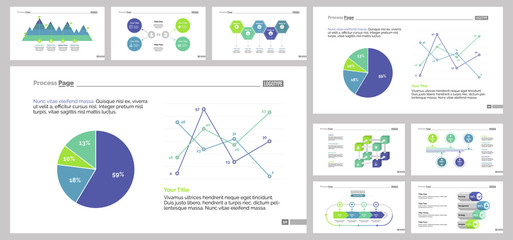 Nine Economics Slide Templates Set