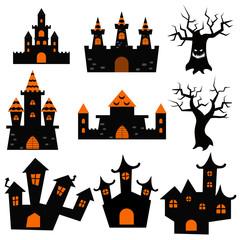 Halloween castles symbol
