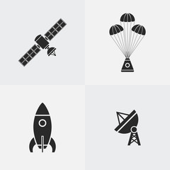 Space icon silhouette