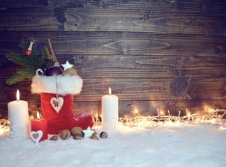 Grußkarte - Nikolausstiefel