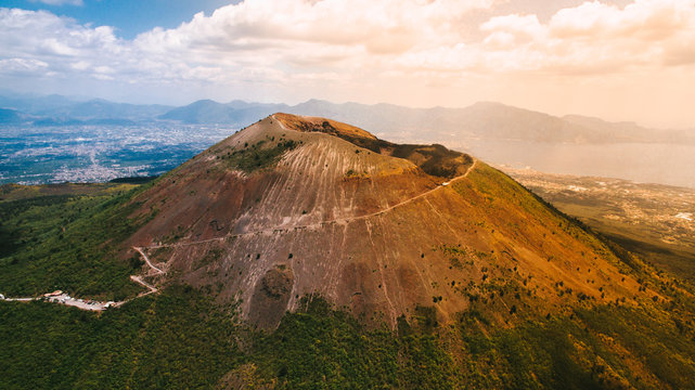 Vesuvius volcano from the air