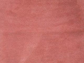 Natural, real light red suede texture