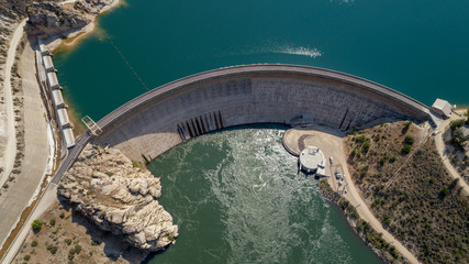 Hydroelectric Dam in Idaho made of cement