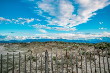 Plage et dune de sable à Canet-en-Roussillon