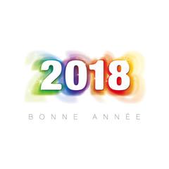 BONNE ANNÉE 2018, MULTICOLORE