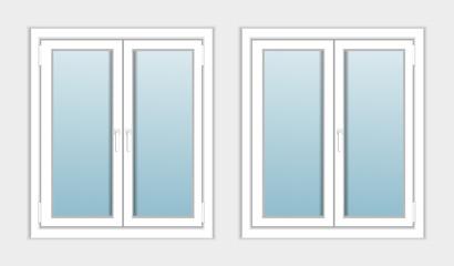 Windows plastic modern for repair, construction. Vector