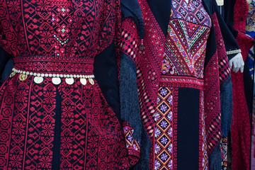 beaded dress, traditional dress of Palestine