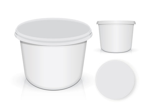 White plastic cup for your design and logo